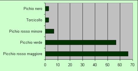 ndice di Frequenza (IF) dei 5 Picidae nel periodo 2003-2005