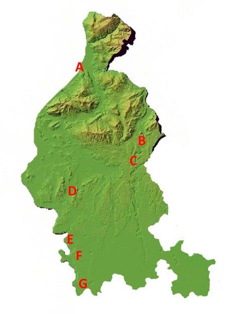 Figura 3: aree con presenza di coppie territoriali
